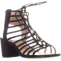 Pour La Victoire Amabelle Strappy Sandals, Black Suede - 11 us