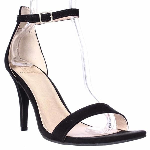 MG35 Blaire Ankle Strap Dress Sandals, Black