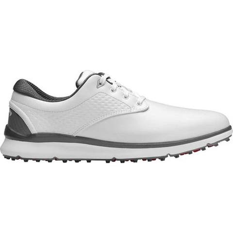 Callaway Men's Oceanside LX Waterproof Golf Shoe White Full Grain Leather/Microfiber