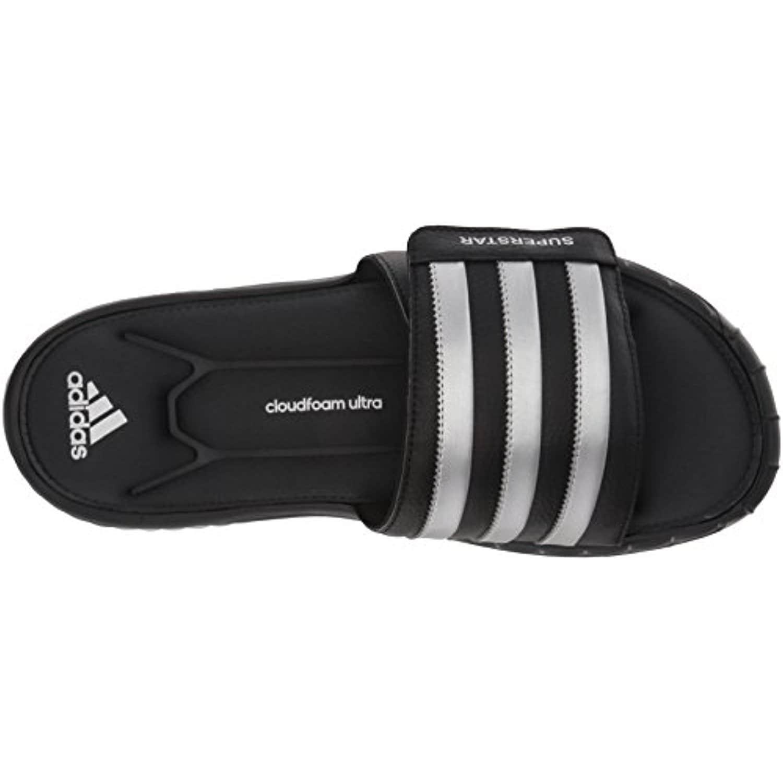 purchase cheap dc60c 12820 adidas Men's Superstar 3G Slide Sandal,Black/Silver/Grey - black/silver/grey
