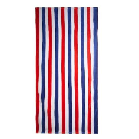 Outdoor Living Patriotic Beach Towel 3 Pack Set in Stripes