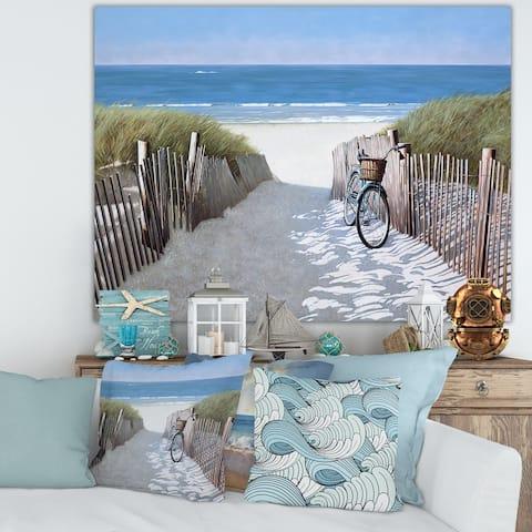 Porch & Den 'Beach Bike 2' Canvas Art Print