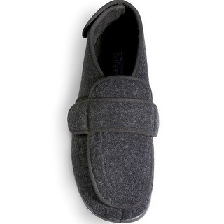 Men's Foamtreads Extra-Depth Wool Slippers - For Sensitive Swollen Feet - Gray