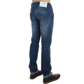 ACHT Blue Wash Denim Cotton Stretch Slim Fit Jeans - w34