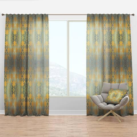 Designart 'Glam Flowers Decorative' Glam Curtain Panel