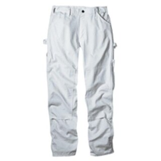 """Dickies 2053WH 3032 Double Knee Painter's Pant, 30"""" x 32"""", White"""