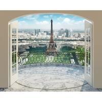 "Brewster WT43589 96"" x 120"" - Eiffel Tower in Paris - Unpasted Vinyl Coated Paper Mural - 12 Panels"