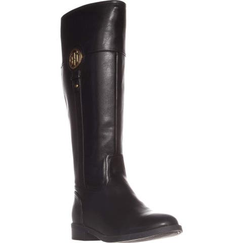 Tommy Hilfiger Womens ilia4 Almond Toe Knee High Fashion Boots