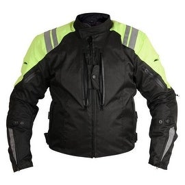 Men Motorcycle Textile Race Jacket CE Protection Black MBJ057-1