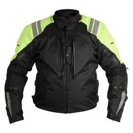 Men Motorcycle Textile Race Jacket CE Protection Black MBJ057-1