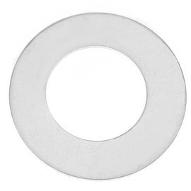 Sterling Silver Blank Stamping Circle Donut Pendant 22mm (1)
