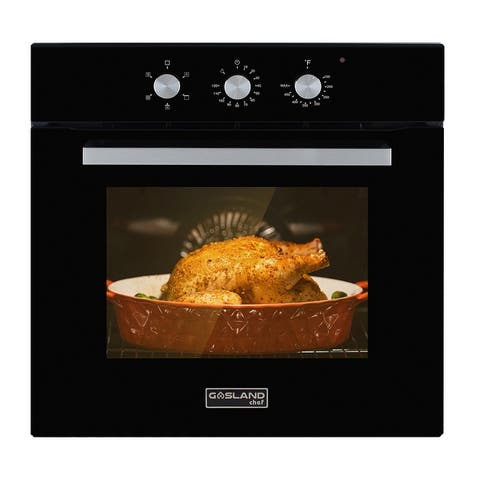 """Gasland Chef ES605MB 24"""" Built-in Single Wall Oven, 5 Cooking Function, Electric Wall Oven With Cooling Down Fan in Black"""