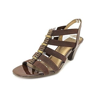 Karen Scott Nylaa Womens Fabric Dress Sandals Shoes - Bronze
