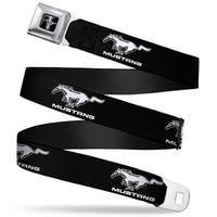 Ford Mustang Emblem Ford Mustang Black White Logo Repeat Seatbelt Belt Seatbelt Belt