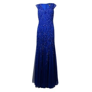 Aidan Mattox Women's V-Neck Cap Sleeves Sequined Mesh Gown - cobalt|https://ak1.ostkcdn.com/images/products/is/images/direct/4c066bfc14ac7bb1a322303b1707c0bed598bcfc/Aidan-Mattox-Women%27s-V-Neck-Cap-Sleeves-Sequined-Mesh-Gown.jpg?impolicy=medium