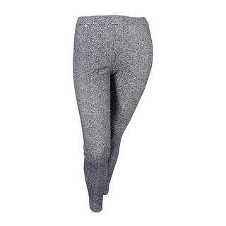 MICHAEL Michael Kors Women's Plus Size Printed Leggings (0X, Black) - Black - 0X