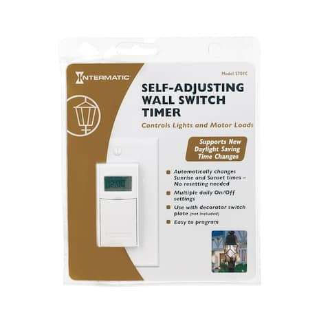 Intermatic ST01 Digital In-Wall Timer, White