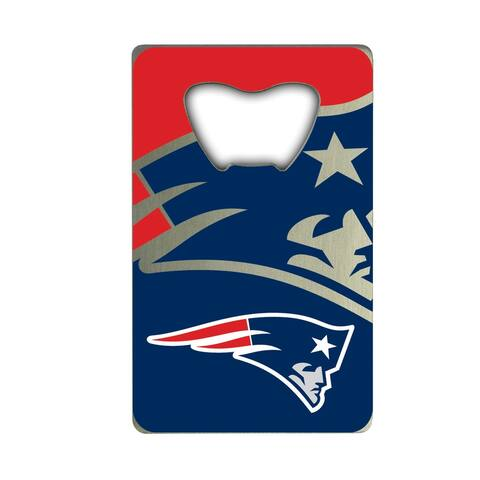 NFL - New England Patriots Metal Credit Card Bottle Opener - 2in. X 3.25in.