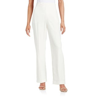 Catherine Malandrino NEW White Women Size 10 Wide Leg Crepe Dress Pants