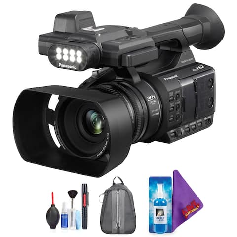 Panasonic AG-AC30 Full HD Camcorder with Touch Panel LCD Screen & Built-In LED Light + Pro Accessories Bundle