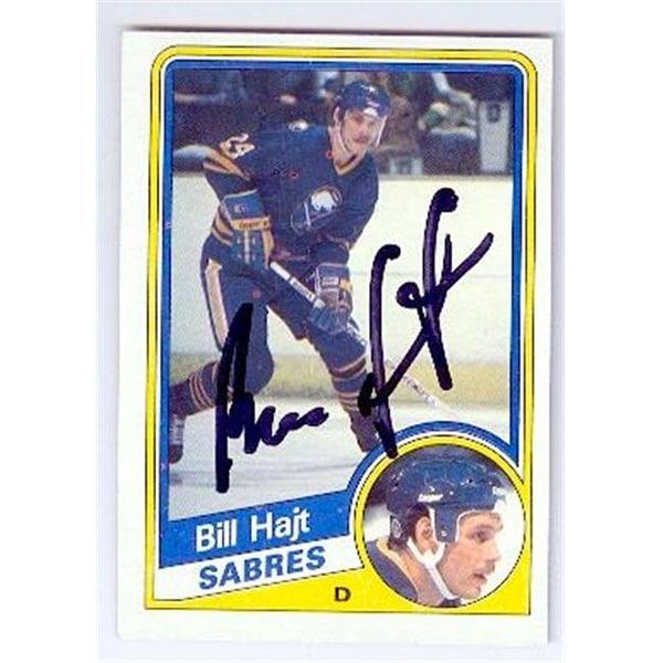 huge discount 3c762 5ee8e Buffalo Sabres 1984 Topps No. 17 Bill Hajt ed Hockey Card
