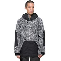 The North Face Achilles Hooded Waterproof Jacket Black and White XXL 2XL