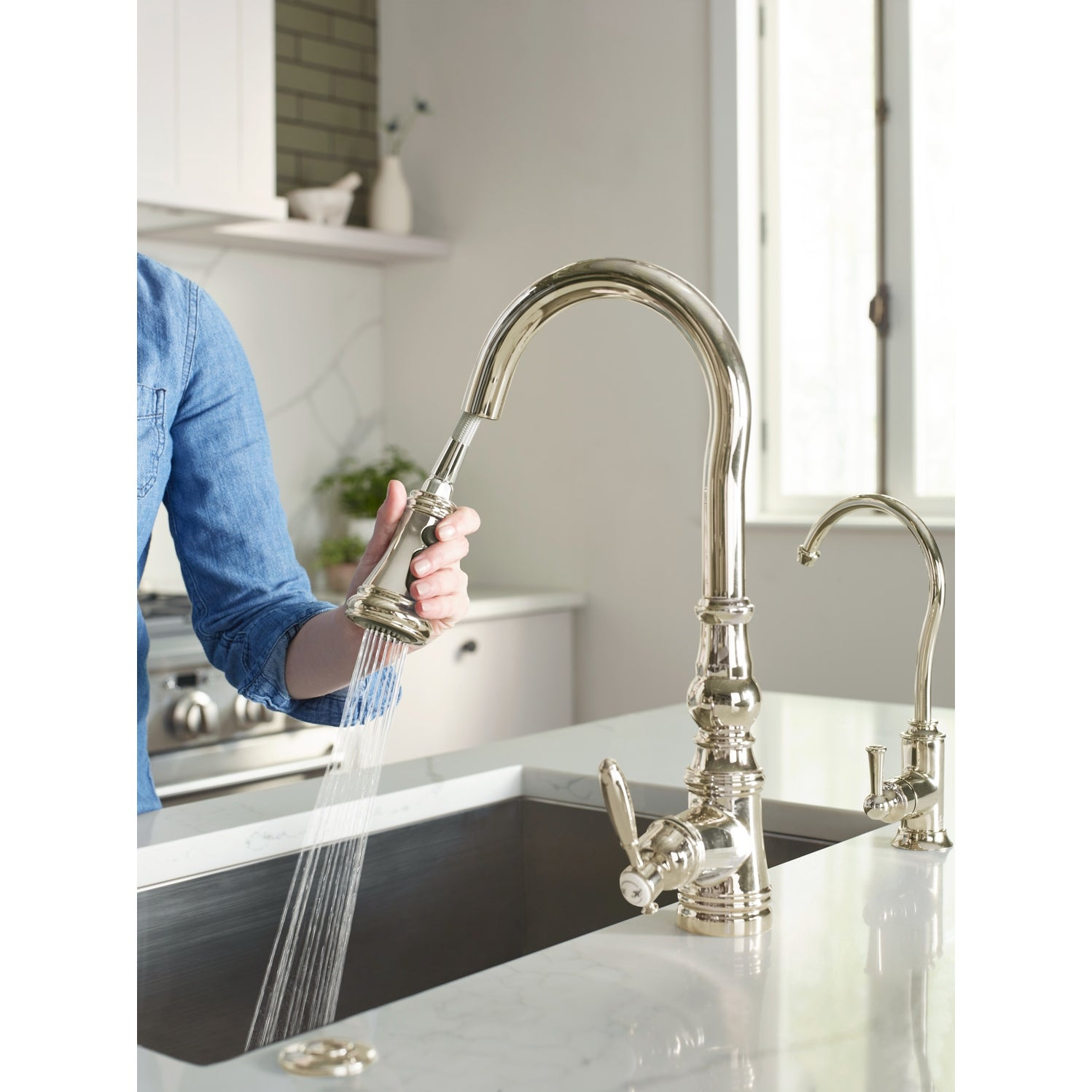 Moen S73004 Weymouth 1 5 Gpm Single Hole Pull Down Kitchen Faucet With Overstock 28261410