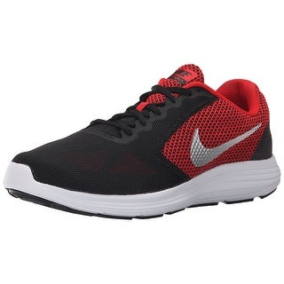 NIKE Men's Revolution 3 Running Shoe, University Red/Metallic Silver/Black