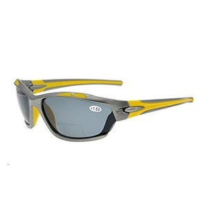 Eyekepper TR90 Sports Polycarbonate Polarized Bifocal Sunglasses Grey Frame Grey Lens +1.5