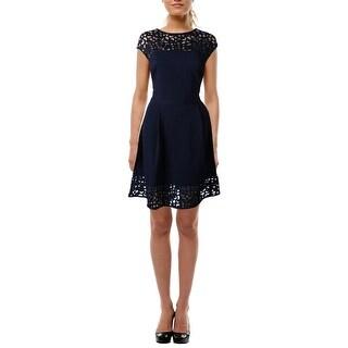 Lauren Ralph Lauren Womens Tilly Party Dress Cut-Out Fit & Flare