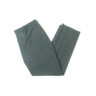 Lauren Ralph Lauren Mens Dress Pants Houndstooth Flat Front