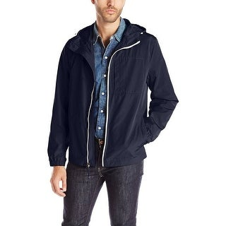 Kenneth Cole New York Hooded Chest Pocket Jacket Navy Blue - L