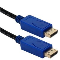 10 ft. Displayport Ultra HD 4K Black Cable with Blue Connectors &