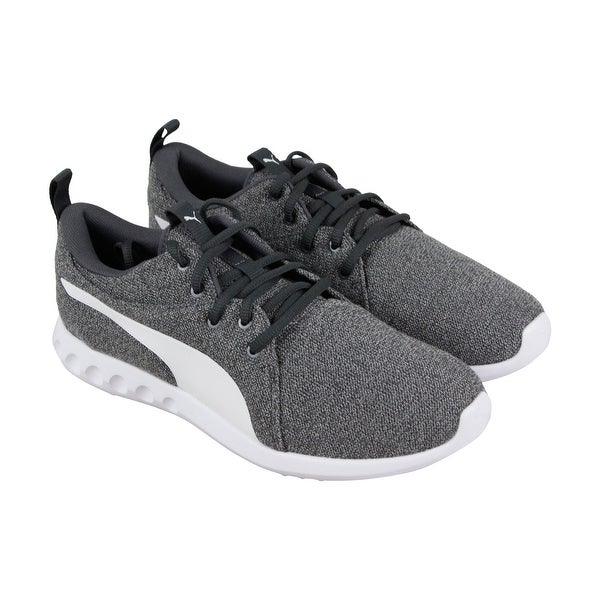 7ca0fb96792 Puma Carson 2 Knit Nm Mens Gray Textile Athletic Lace Up Running Shoes