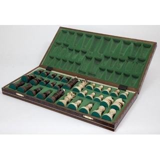 Wegiel Ambassador Wooden CHESS GAME, High Detailed European Handmade CHESS SET