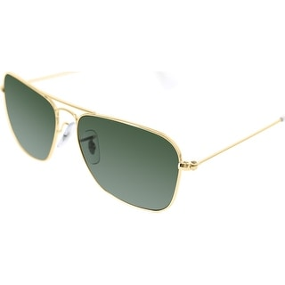 Ray-Ban Men's Caravan RB3136-001-55 Gold Square Sunglasses