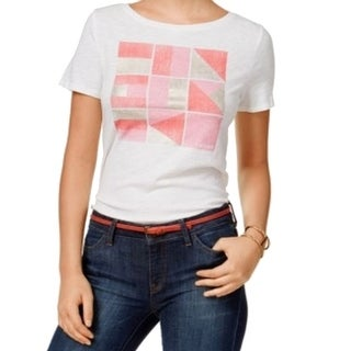 Tommy Hilfiger NEW White Women's Size Small S Graphic Tee T-Shirt