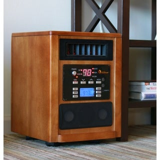 Dr. Infrared Heater DR-928 Music Heater Portable Infrared Space Heater - wood grain