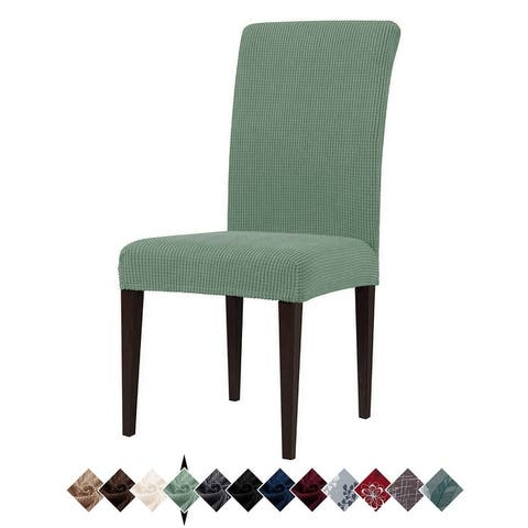 4 Pack Stretch Dining Chair Slipcovers, Washable Chair Covers