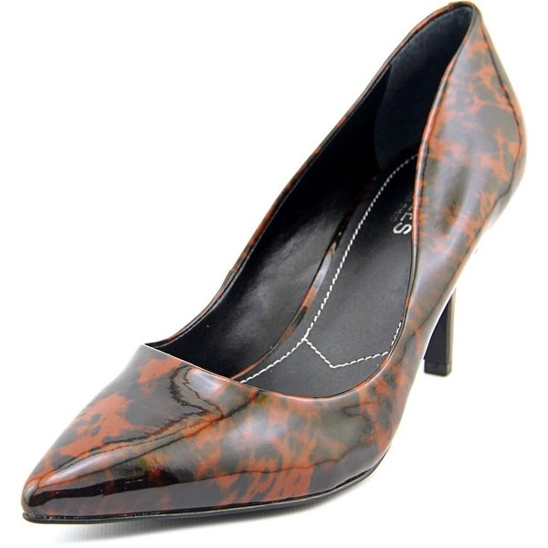 Charles By Charles David Sasha Women Pointed Toe Patent Leather Brown Heels