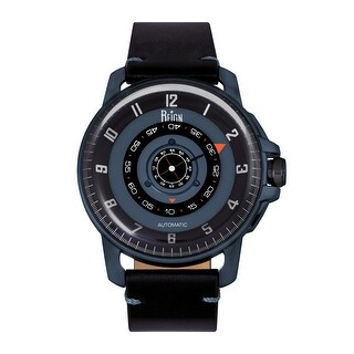 Reign Monarch Automatic Domed Sapphire Crystal Leather-Band Watch - Gunmetal/Black