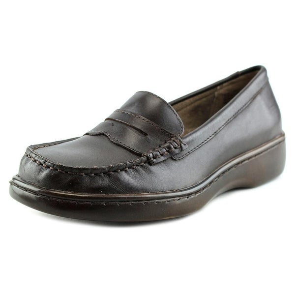 Array Tracy Women W Round Toe Leather Brown Loafer