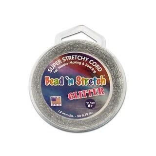 Toner Bead N Stretch Cord 1.2mm Glitter Silvr 30ft