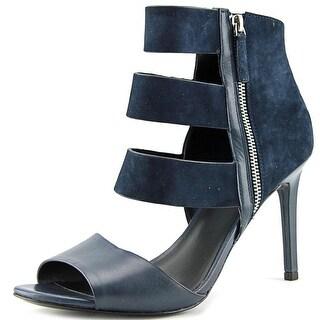 Charles David Itano Women Open-Toe Suede Blue Heels
