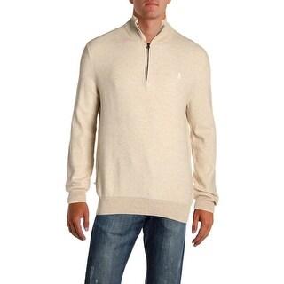 Polo Ralph Lauren Mens 1/2 Zip Sweater Cotton Long Sleeve - XL