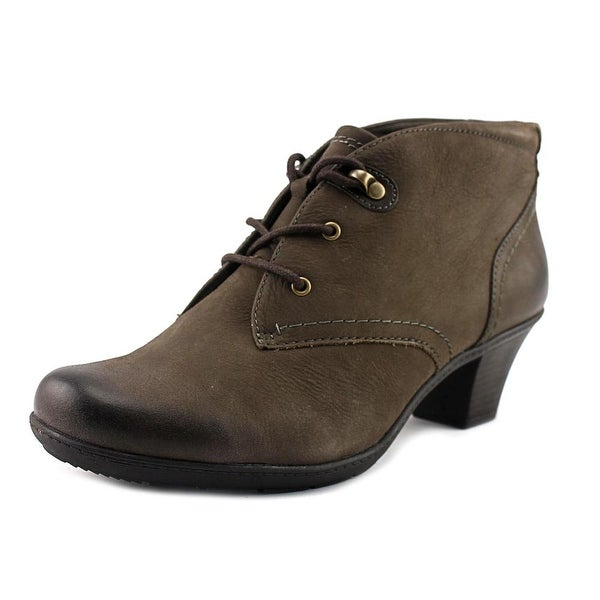 Earth Origins Devin Women Round Toe Leather Brown Ankle Boot
