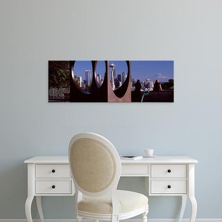 Easy Art Prints Panoramic Images's 'Queen Anne Hill, Space Needle, Seattle, King County, Washington State' Canvas Art