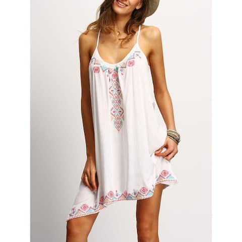New Fashion Slim Strap Print Dress