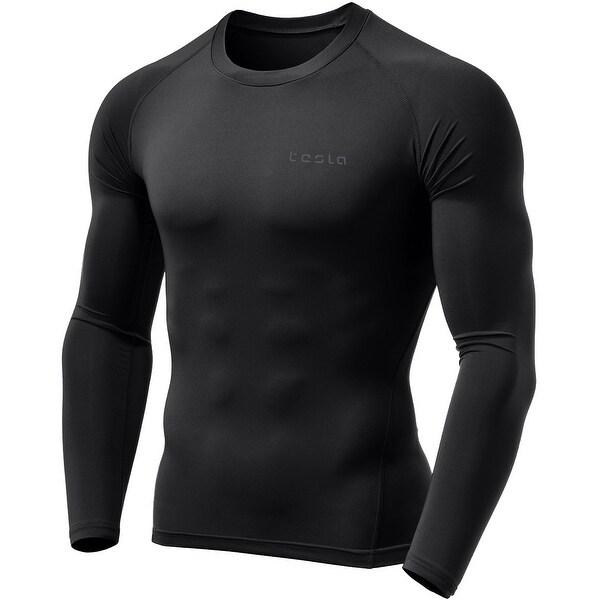 ffc2b73b8b Shop TSLA Tesla MUD01 Cool Dry Long Sleeve Compression Shirt - Black ...