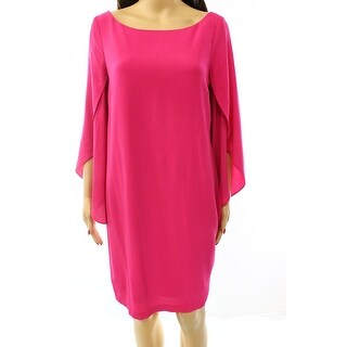 Jessica Simpson NEW Pink Women's Size 10 Shift Angel-Sleeve Dress
